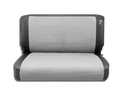 Corbeau Rear Seat Cover - Black Vinyl/Gray Cloth (87-95 Jeep Wrangler YJ)