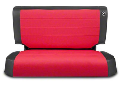 Corbeau Rear Seat Cover - Black Vinyl/Red Cloth (97-06 Jeep Wrangler TJ)
