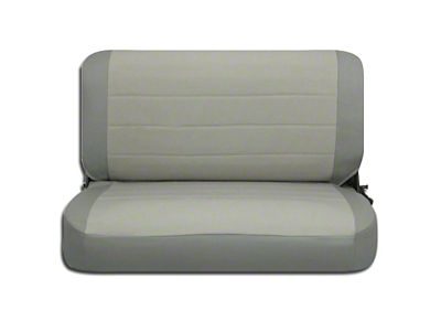Corbeau Rear Seat Cover - Gray Vinyl/Cloth (87-95 Jeep Wrangler YJ)