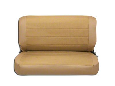 Corbeau Rear Seat Cover - Tan Vinyl/Cloth (87-95 Jeep Wrangler YJ)