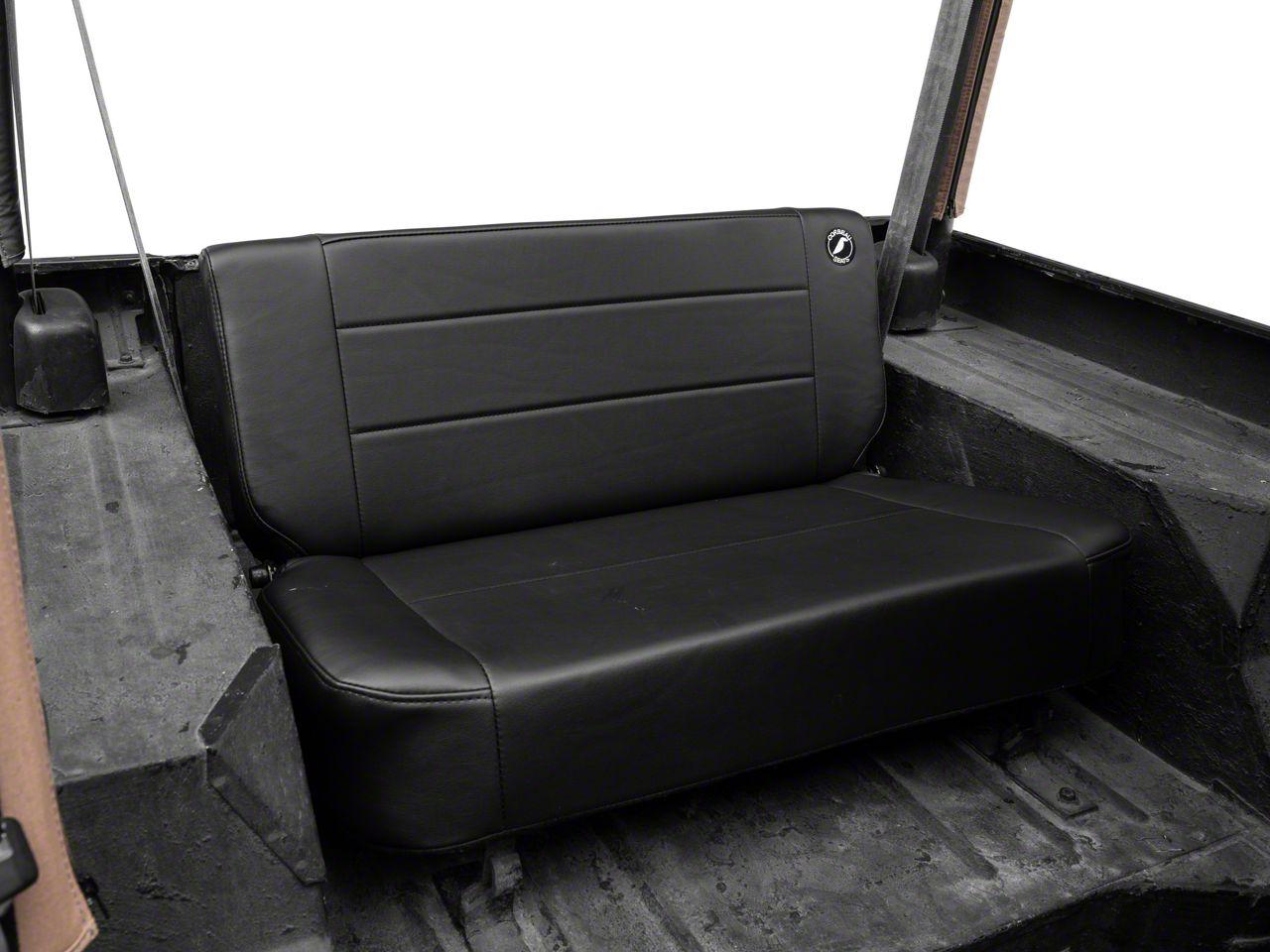 Corbeau Safari Fold & Tumble Seat - Black Vinyl (87-95 Jeep Wrangler YJ)