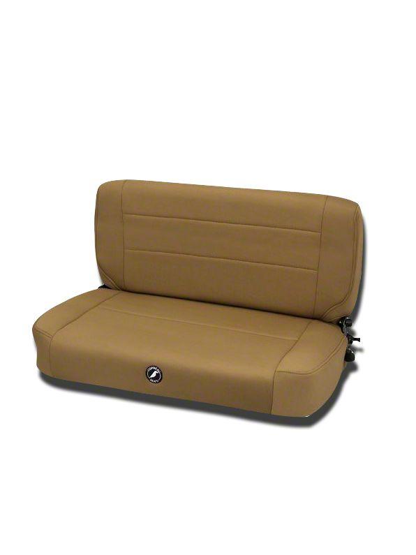 Corbeau Safari Fold & Tumble Seat - Spice Neoprene (87-95 Jeep Wrangler YJ)