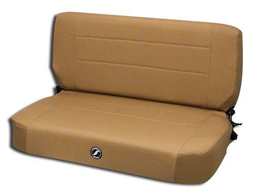 Corbeau Safari Fold & Tumble Seat - Spice Vinyl/Cloth (87-95 Jeep Wrangler YJ)