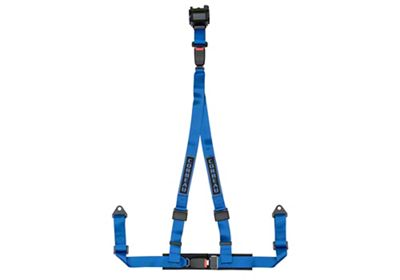 Corbeau 2 in. 3-Point Retractable Harness Belt - Blue (87-18 Jeep Wrangler YJ, TJ, JK & JL)