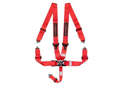 Corbeau 3 in. 5-Point Camlock Harness Belt - Red (87-18 Jeep Wrangler YJ, TJ, JK & JL)