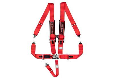 Corbeau 3 in. 5-Point Latch & Link Harness Belt - Red (87-18 Jeep Wrangler YJ, TJ, JK & JL)