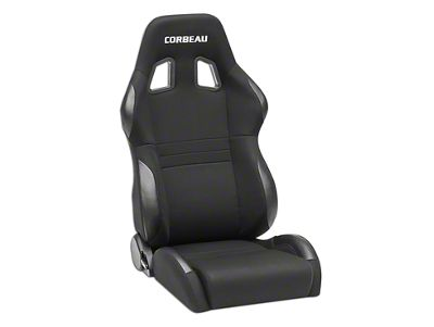 Corbeau A4 Wide Racing Seat - Black Cloth - Pair (87-18 Jeep Wrangler YJ, TJ & JK; Seat Brackets are Required for TJ & JK Models)