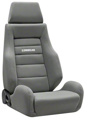 Corbeau GTS II Reclining Seat - Gray Cloth (87-18 Jeep Wrangler YJ, TJ & JK; Seat Brackets are Required for TJ & JK Models)