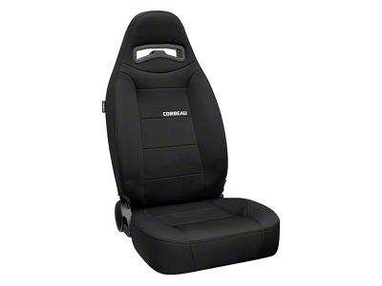 Corbeau Moab Reclining Seat - Black Neoprene - Pair (87-18 Jeep Wrangler YJ, TJ & JK; Seat Brackets are Required for TJ & JK Models)