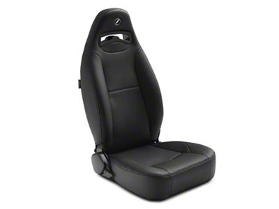 Corbeau Moab Reclining Seat - Black Vinyl - Pair (87-18 Jeep Wrangler YJ, TJ & JK; Seat Brackets are Required for TJ & JK Models)