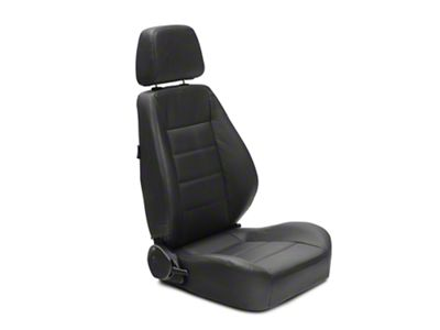 Corbeau Sport Reclining Seat - Black Leather - Pair (87-18 Jeep Wrangler YJ, TJ & JK; Seat Brackets are Required for TJ & JK Models)