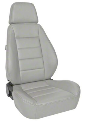 Corbeau Sport Seat Reclining Seat - Gray Vinyl - Pair (87-18 Jeep Wrangler YJ, TJ & JK; Seat Brackets are Required for TJ & JK Models)