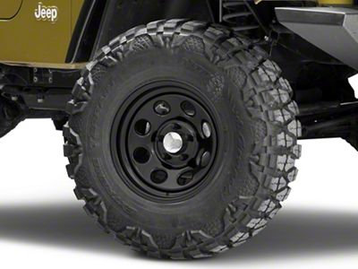 Raceline 81B Soft 8 Black Wheel - 15x7 (87-06 Jeep Wrangler YJ & TJ)
