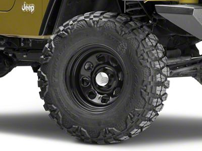 Raceline 81B Soft 8 Black Wheel - 15x8 (87-06 Jeep Wrangler YJ & TJ)