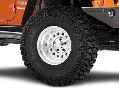 Raceline 887 Rockcrusher Polished Wheel - 15x10 (07-18 Jeep Wrangler JK; 2018 Jeep Wrangler JL)