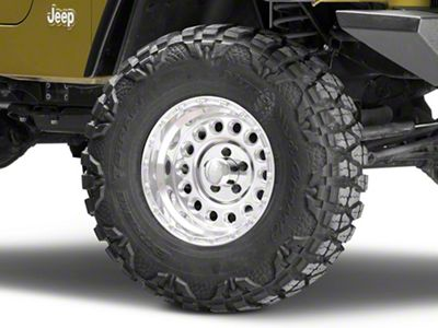 Raceline 887 Rockcrusher Polished Wheel - 15x8 (87-06 Jeep Wrangler YJ & TJ)