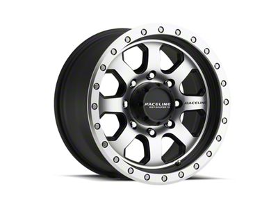 Raceline SL Avenger Black Machined Wheel - 17x9 (07-18 Jeep Wrangler JK; 2018 Jeep Wrangler JL)
