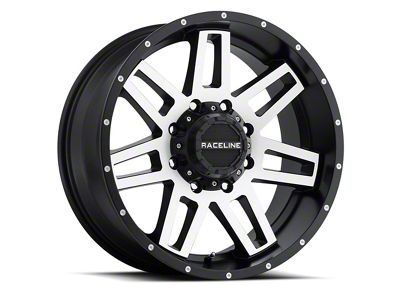 Raceline Injector Black Machined Wheel - 16x8 (07-18 Jeep Wrangler JK; 2018 Jeep Wrangler JL)