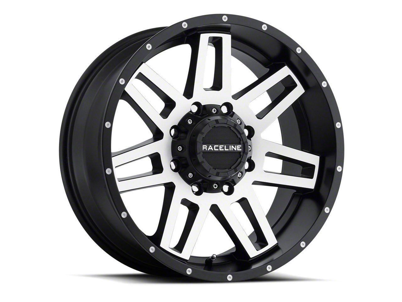 Raceline Injector Black Machined Wheel - 17x8.5 (18-19 Jeep Wrangler JL)