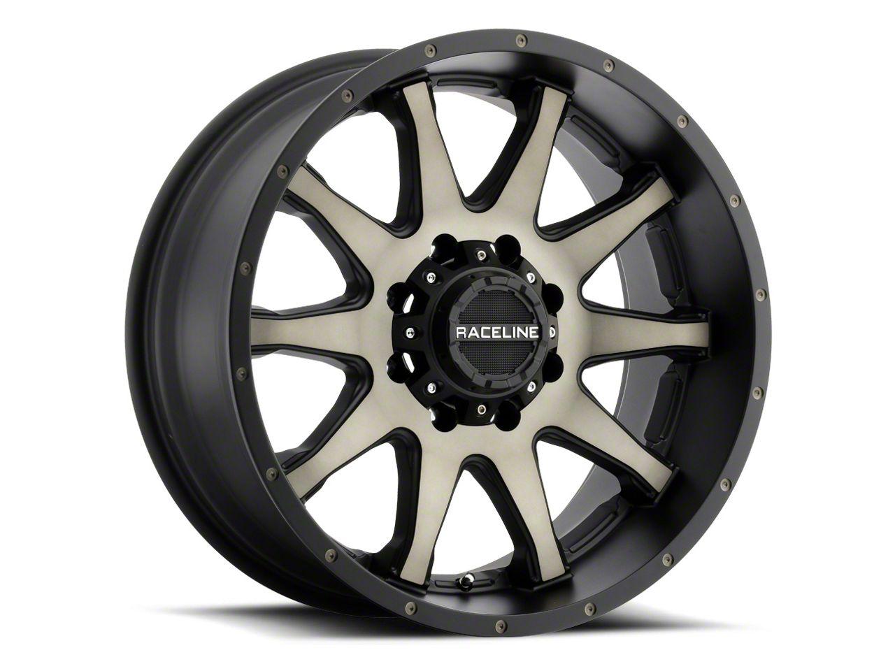 Raceline Shift Black Machined w/ Dark Tint Wheel - 17x8.5 (18-19 Jeep Wrangler JL)