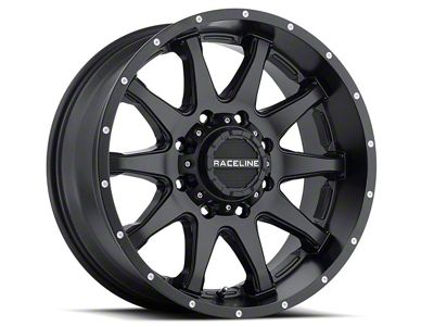 Raceline Shift Black Wheel - 16x8 (07-18 Jeep Wrangler JK; 2018 Jeep Wrangler JL)