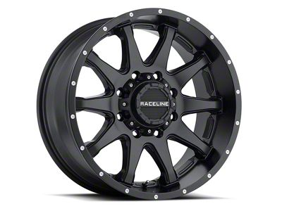 Raceline Shift Black Wheel - 17x8.5 (07-18 Jeep Wrangler JK; 2018 Jeep Wrangler JL)