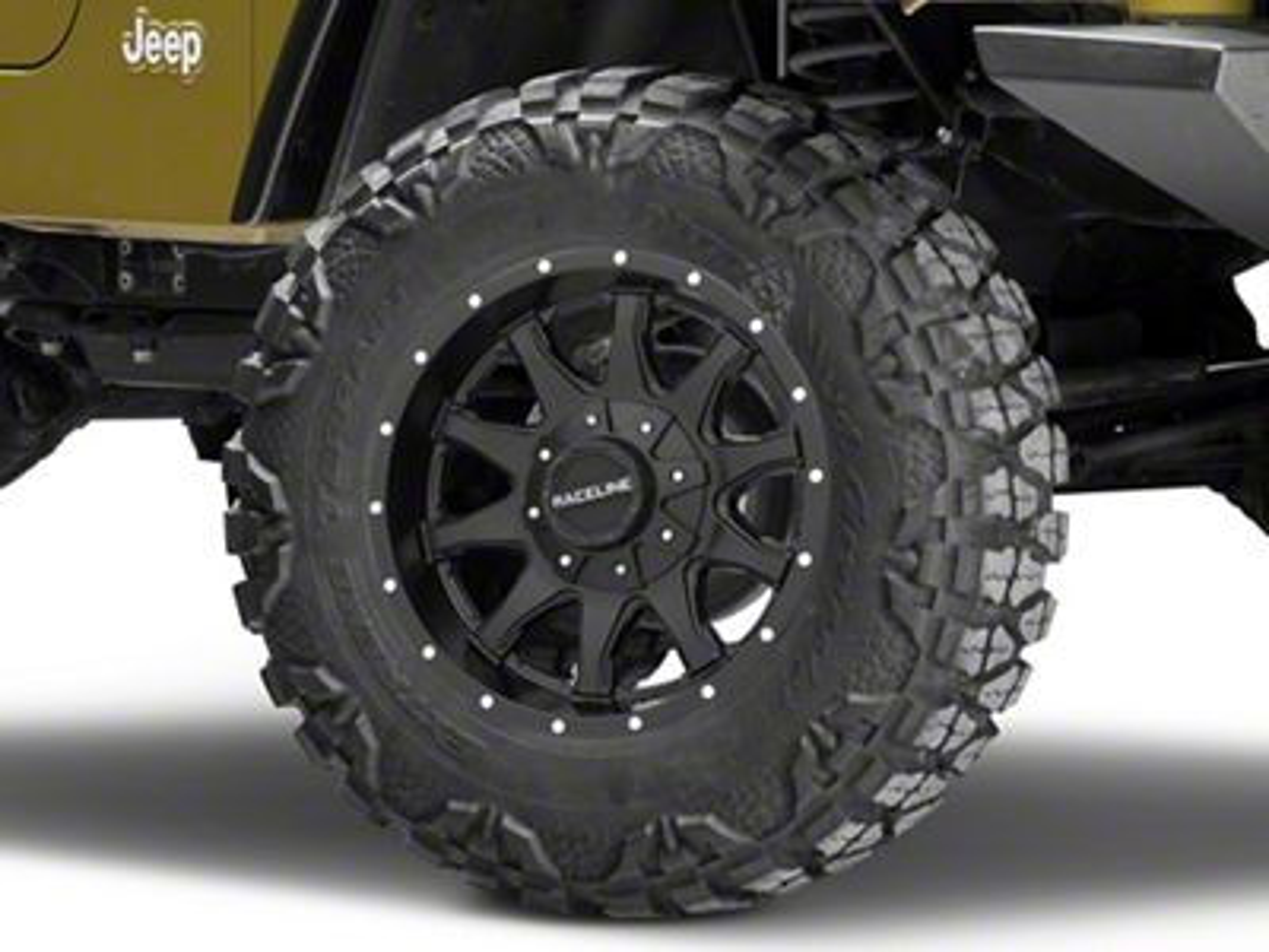 Raceline Shift Black Wheel - 17x8.5 (87-06 Jeep Wrangler YJ & TJ)
