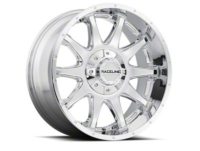 Raceline Shift Chrome Wheel - 16x8 (07-18 Jeep Wrangler JK; 2018 Jeep Wrangler JL)