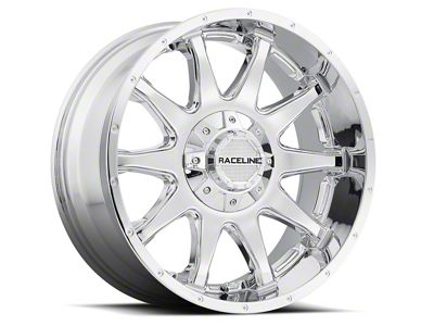 Raceline Shift Chrome Wheel - 20x12 (07-18 Jeep Wrangler JK; 2018 Jeep Wrangler JL)