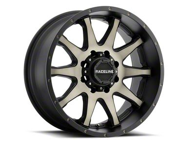 Raceline Twist Black Machined w/ Dark Tint Wheel - 20x12 (07-18 Jeep Wrangler JK; 2018 Jeep Wrangler JL)