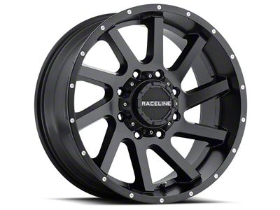 Raceline Twist Black Wheel - 20x12 (07-18 Jeep Wrangler JK; 2018 Jeep Wrangler JL)