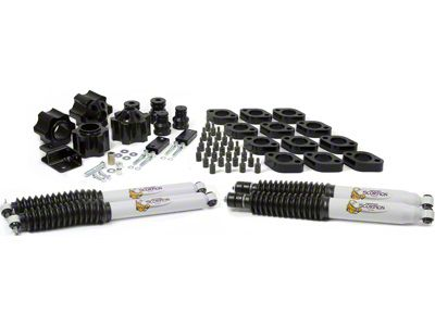 Daystar 4 in. Comfort Ride Coil Spacer & Body Mount Lift Kit w/ Scorpion Shocks (07-18 Jeep Wrangler JK)