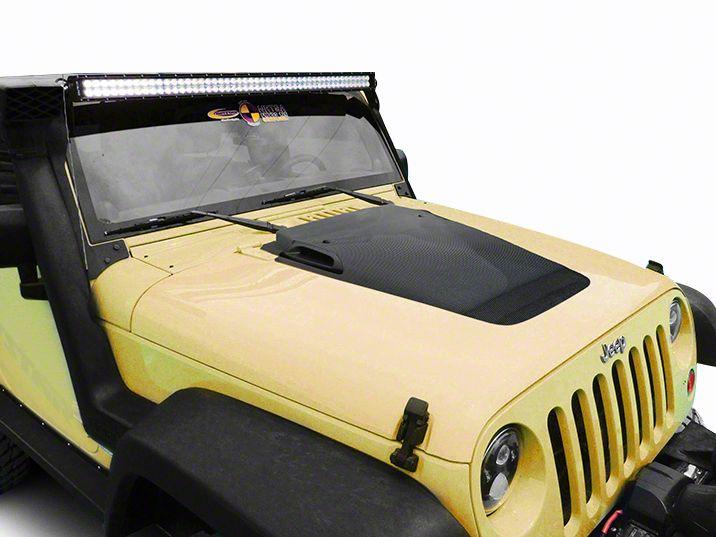 Daystar Cowl Hood - Carbon Fiber (07-18 Jeep Wrangler JK)