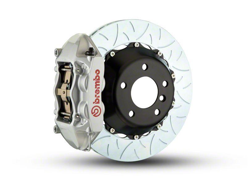 Brembo GT Series 4-Piston Rear Brake Kit - Type 3 Rotors - Silver (07-18 Jeep Wrangler JK)