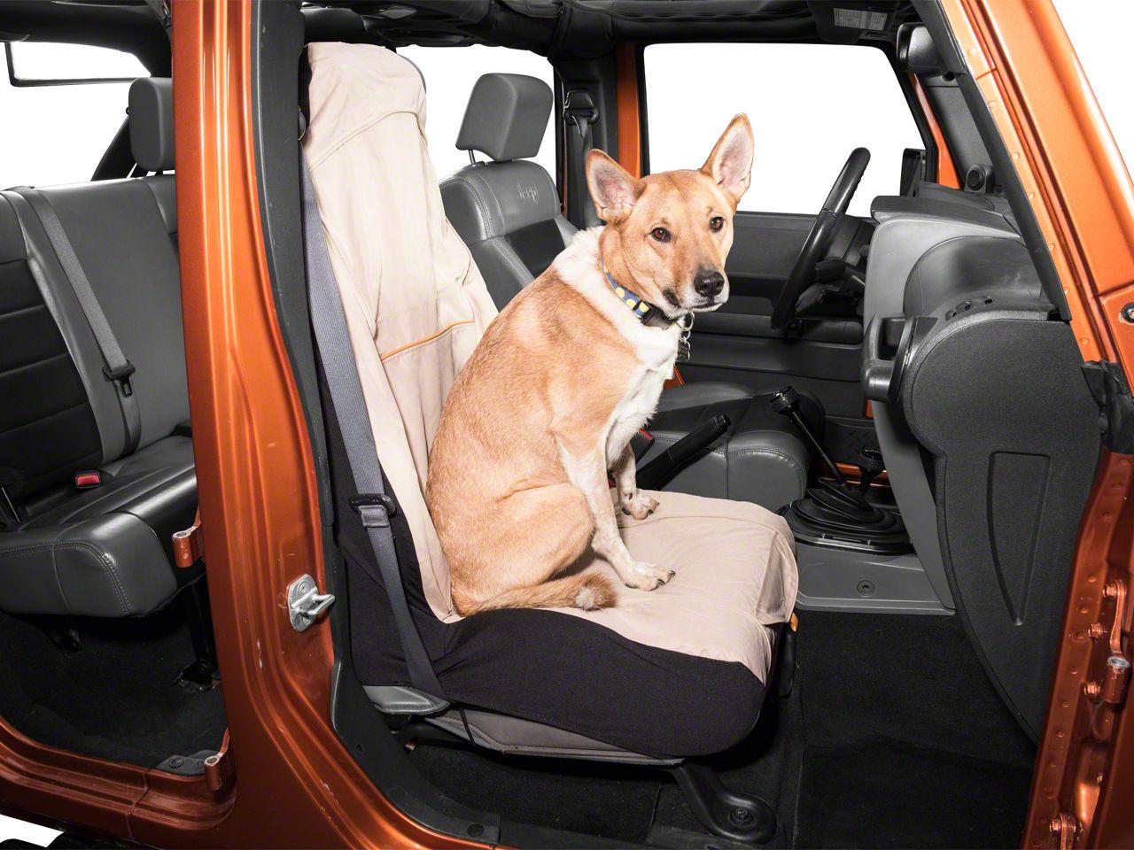 Kurgo Co-Pilot Bucket Seat Cover - Hampton Sand (87-18 Jeep Wrangler YJ, TJ, JK & JL)
