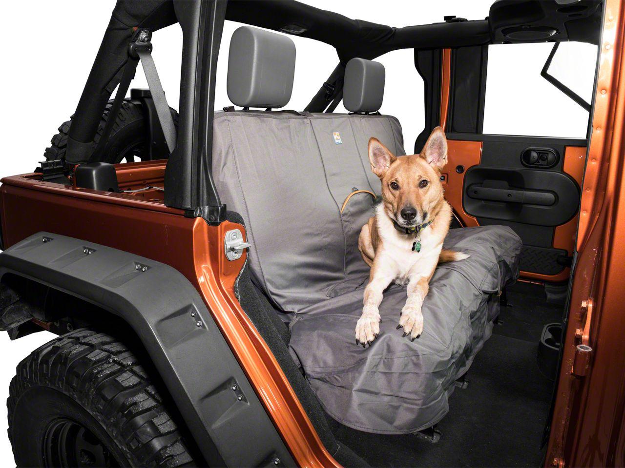 Kurgo Wander Rear Bench Seat Cover - Charcoal (87-19 Jeep Wrangler YJ, TJ, JK & JL)