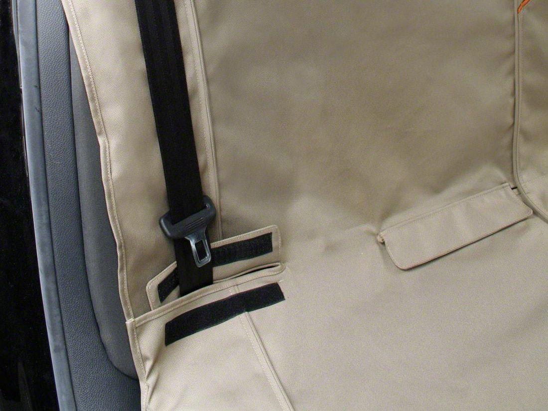Kurgo Extended Width Wander Rear Bench Seat Cover - Hampton Sand - 63 in. wide (87-18 Jeep Wrangler YJ, TJ, JK & JL)