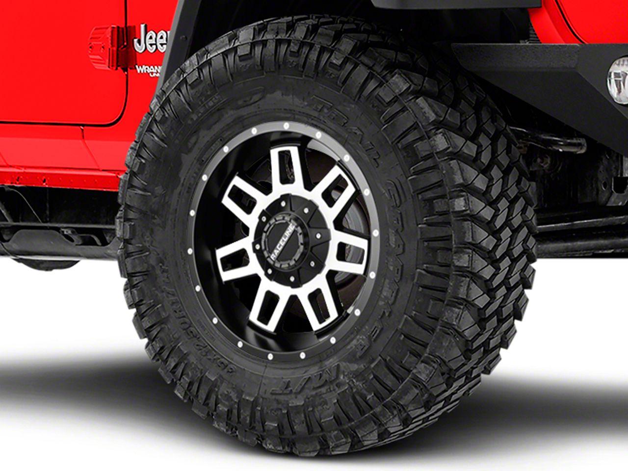 Raceline Injector Black Machined Wheel - 18x9 (18-19 Jeep Wrangler JL)