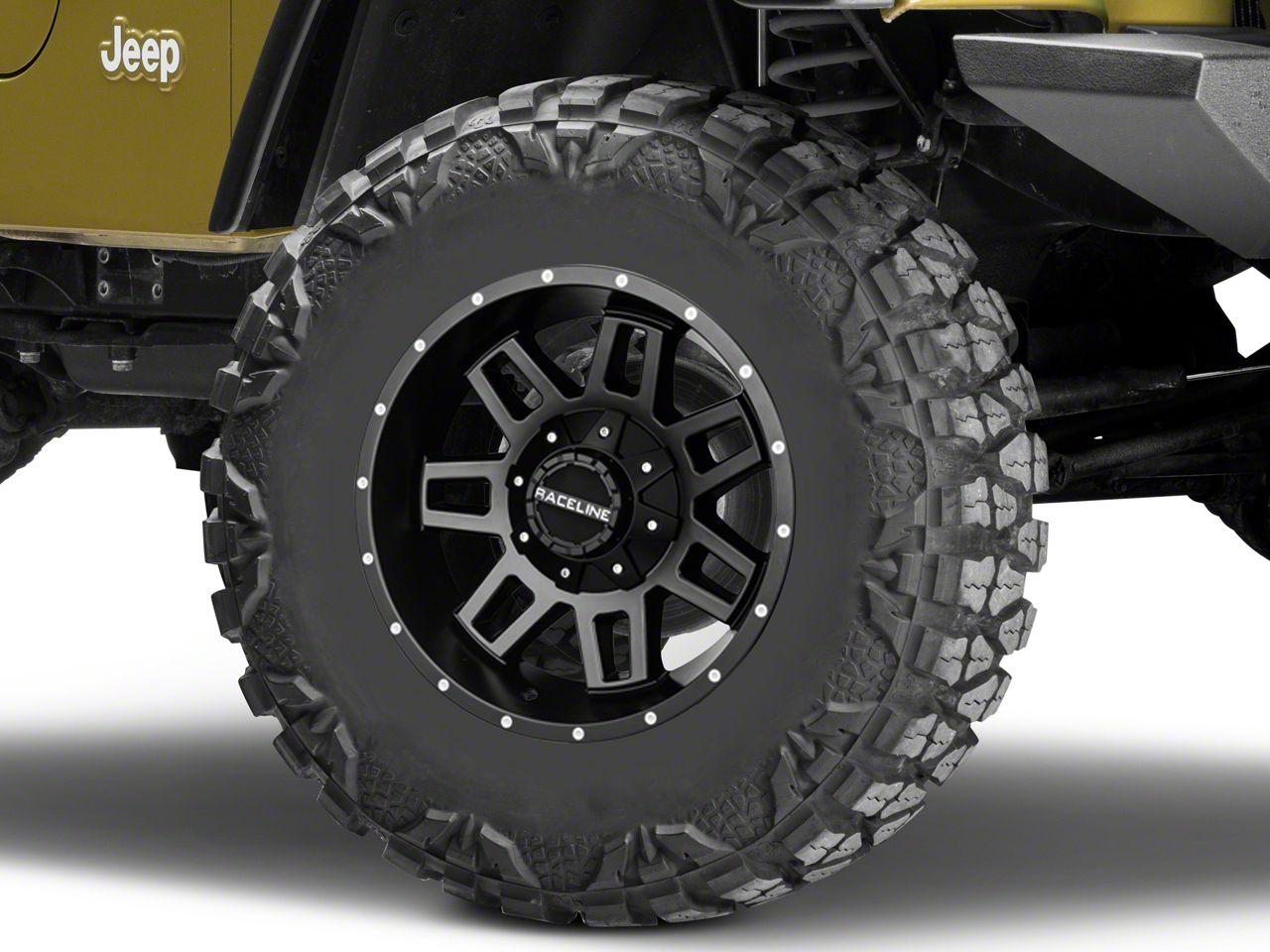 Raceline Injector Black Wheel - 17x9 (87-06 Jeep Wrangler YJ & TJ)