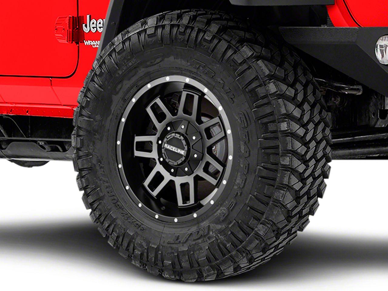 Raceline Injector Black Wheel - 17x9 (18-19 Jeep Wrangler JL)