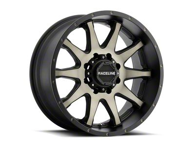 Raceline Shift Black Machined w/ Dark Tint Wheel - 18x9 (87-06 Jeep Wrangler YJ & TJ)