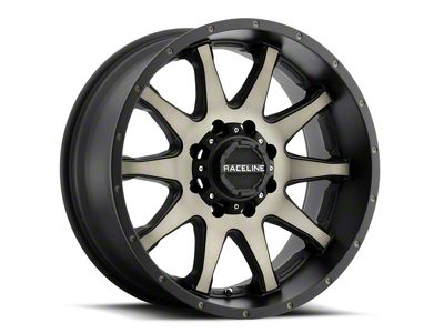 Raceline Shift Black Machined w/ Dark Tint Wheel - 20x9 (87-06 Jeep Wrangler YJ & TJ)