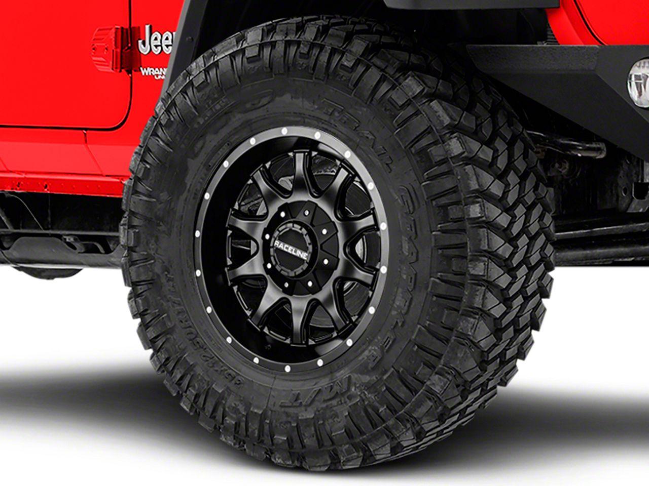 Raceline Shift Black Wheel - 17x9 (18-19 Jeep Wrangler JL)