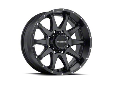Raceline Shift Black Wheel - 17x9 (87-06 Jeep Wrangler YJ & TJ)