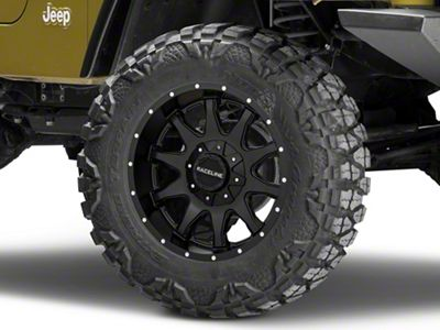 Raceline Shift Black Wheel - 18x9 (87-06 Jeep Wrangler YJ & TJ)
