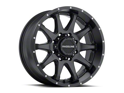Raceline Shift Black Wheel - 20x9 (87-06 Jeep Wrangler YJ & TJ)