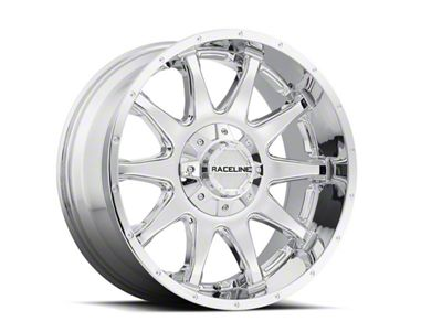 Raceline Shift Chrome Wheel - 17x9 (87-06 Jeep Wrangler YJ & TJ)