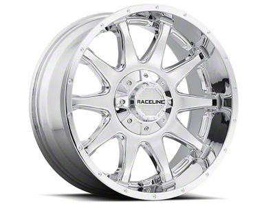 Raceline Shift Chrome Wheel - 18x9 (87-06 Jeep Wrangler YJ & TJ)