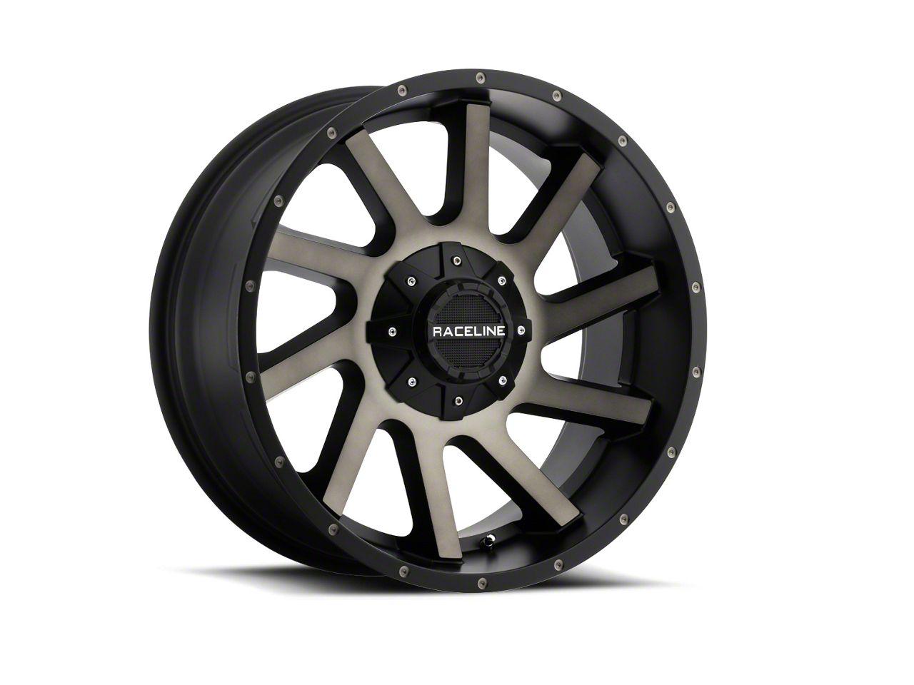 Raceline Twist Black Machined w/ Dark Tint Wheel - 20x9 (07-18 Jeep Wrangler JK)