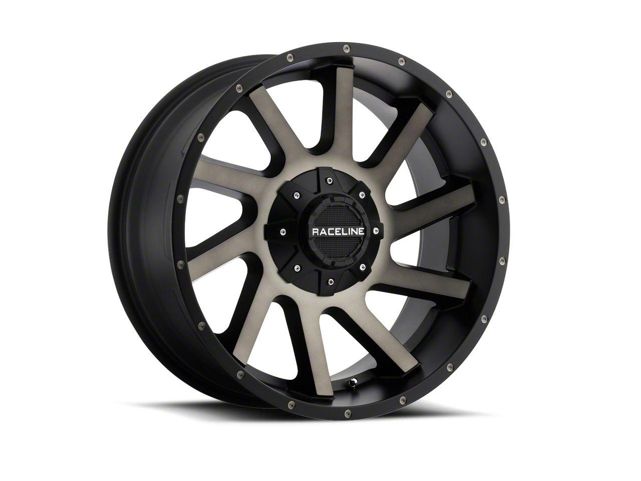Raceline Twist Black Machined w/ Dark Tint Wheel - 20x9 (18-19 Jeep Wrangler JL)